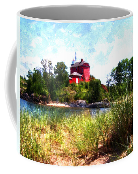 Light House Coffee Mug featuring the photograph Summer Lighthouse by Phil Perkins