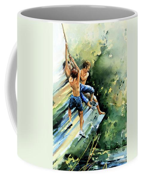 Rope Swing Painting Coffee Mug featuring the painting Summer Memories by Hanne Lore Koehler