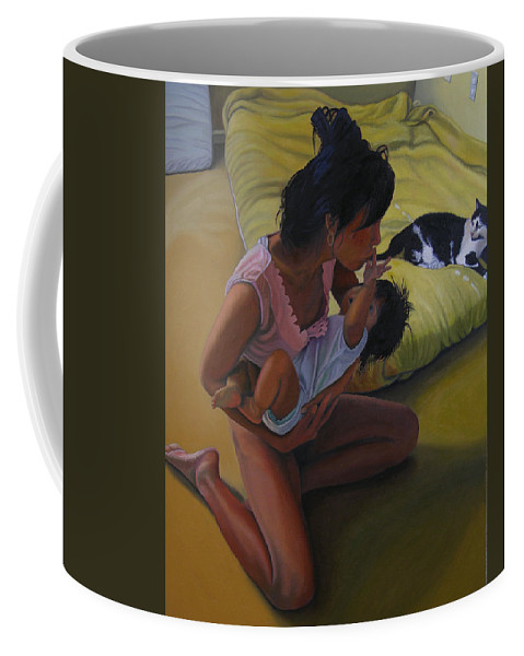Figure Coffee Mug featuring the painting Summer Morning Cabot Arkansas by Thu Nguyen