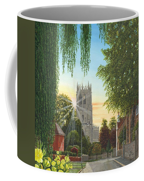 Landscape Coffee Mug featuring the painting Summer Morning St. Mary by Richard Harpum