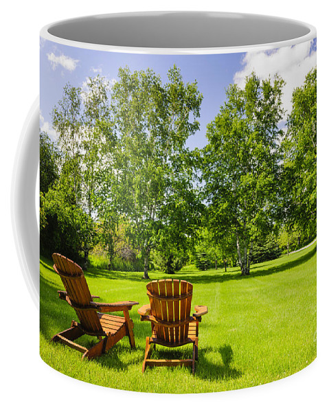 Chairs Coffee Mug featuring the photograph Summer Relaxing by Elena Elisseeva