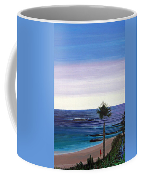 Malibu Beach Coffee Mug featuring the painting Summer Samba by Hunter Jay