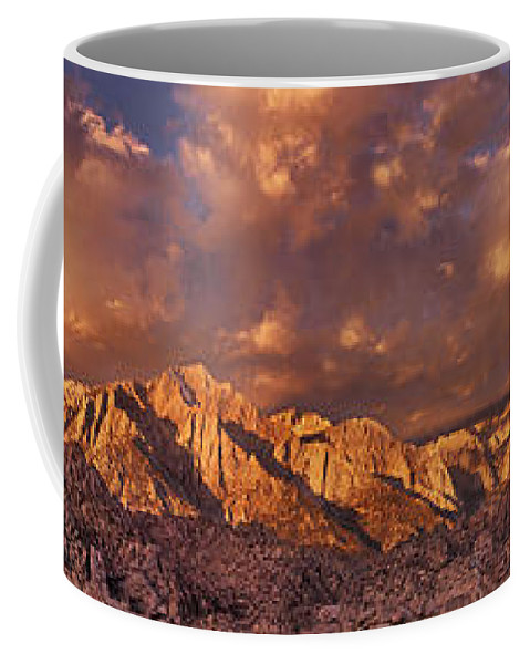 North America Coffee Mug featuring the photograph Summer Storm Clouds Over The Eastern Sierras California by Dave Welling
