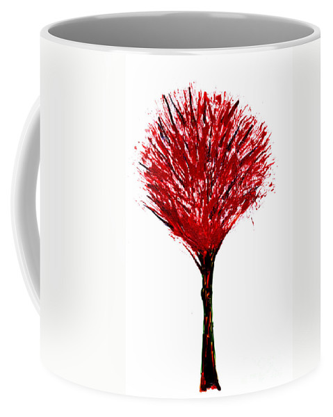 Tree Coffee Mug featuring the painting Summer Tree Painting Isolated by Simon Bratt Photography LRPS