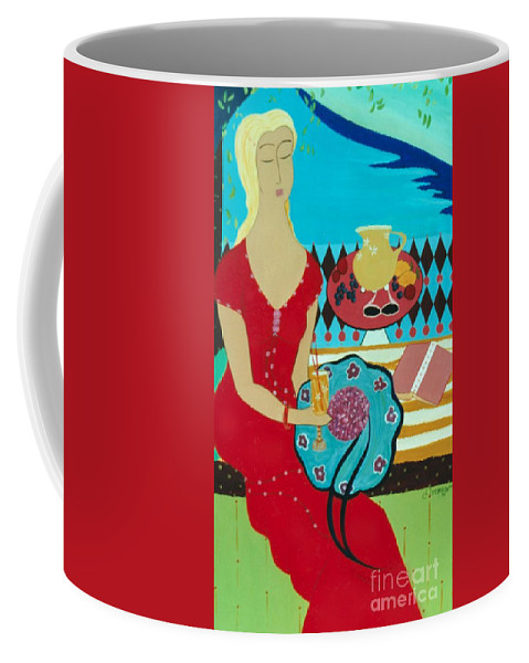 #female Coffee Mug featuring the painting Summers Day by Jacquelinemari