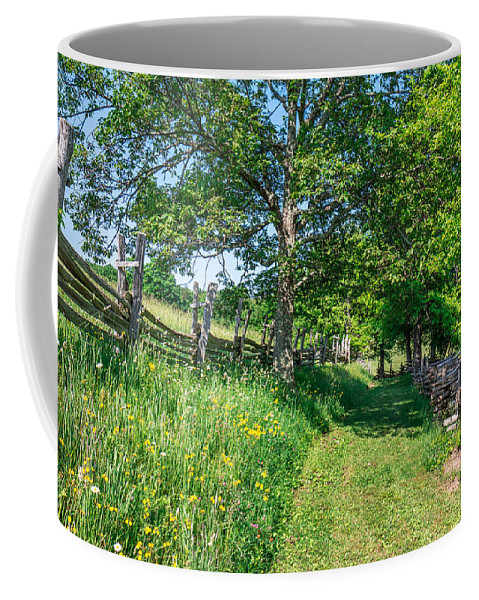 Cumberland Gap National Historical Park Coffee Mug featuring the photograph Summertime At The Farm by Mary Almond