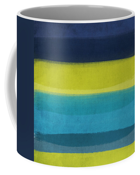 Abstract Coffee Mug featuring the painting Sun And Surf by Linda Woods