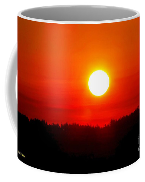 Sun Coffee Mug featuring the photograph Sun Blast Over Whidbey Island Washington State by Tap On Photo