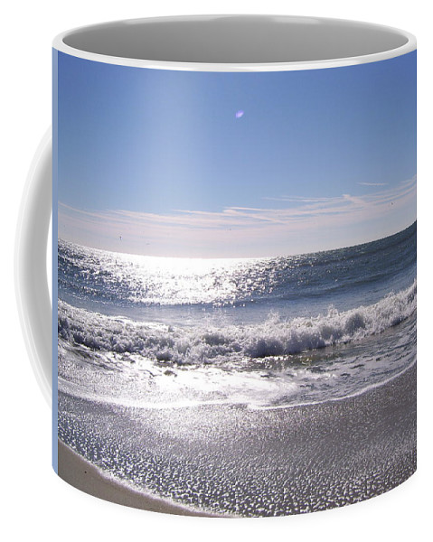 Ocean Coffee Mug featuring the photograph Sun Diamonds On The Surf by Terry Cobb