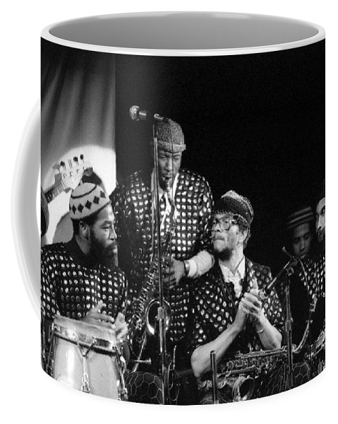 Jazz Coffee Mug featuring the photograph Sun Ra Arkestra With John Gilmore by Lee Santa