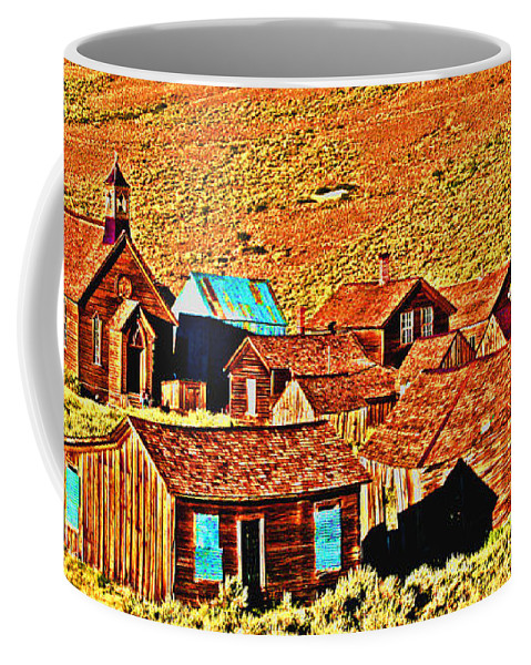 Bodie Coffee Mug featuring the digital art Sun Setting On Bodie by Joseph Coulombe