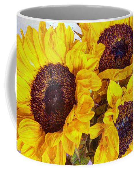 Yellow Coffee Mug featuring the photograph Sun Worship by Heidi Smith