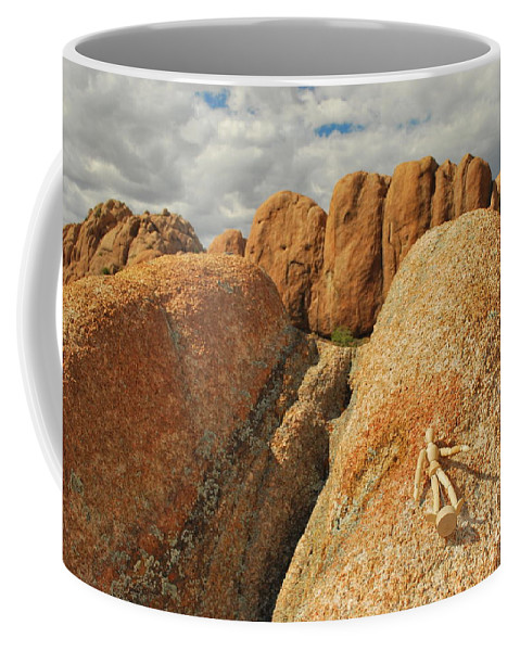 Granite Coffee Mug featuring the photograph Sunbathing In The Raw by Heather Kirk