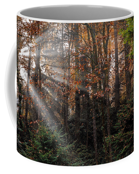 Sunbreak Coffee Mug featuring the photograph Sunbreak by Wes and Dotty Weber