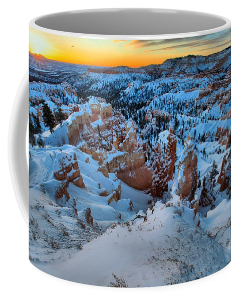 Bryce Canyon National Park Coffee Mug featuring the photograph Sunburst Over The Hoodoos by Adam Jewell