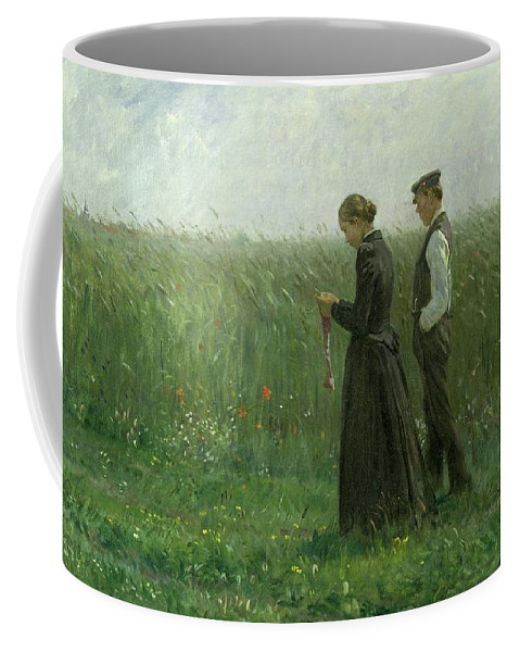 Am Sonntagnachmittag Coffee Mug featuring the painting Sunday Afternoon by Leopold Karl Walter von Kalckreuth