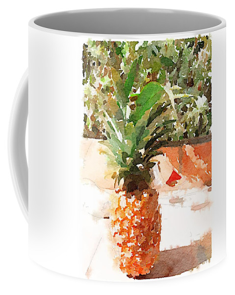 Pineapple Coffee Mug featuring the digital art Sunday Brunch by Shannon Grissom