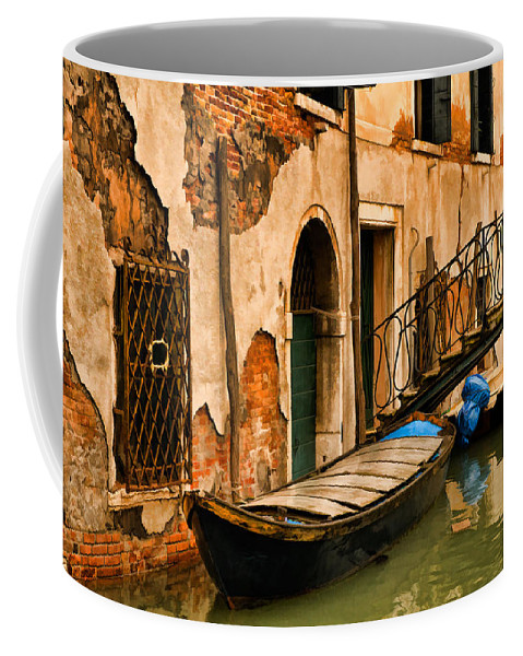 Venice Coffee Mug featuring the digital art Sunday In Venice by Mick Burkey
