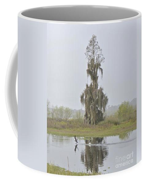 Fog Coffee Mug featuring the photograph Sunday Morning Fog by Carol Bradley