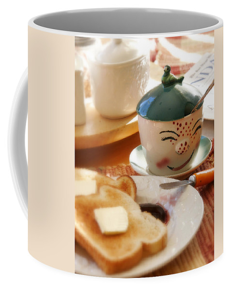 Still Life Coffee Mug featuring the photograph Sunday Morning Jelly Jar by Peter Tellone