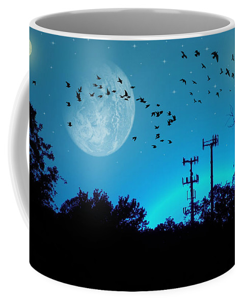 2d Coffee Mug featuring the photograph Sundown Fantasy - Blue by Brian Wallace