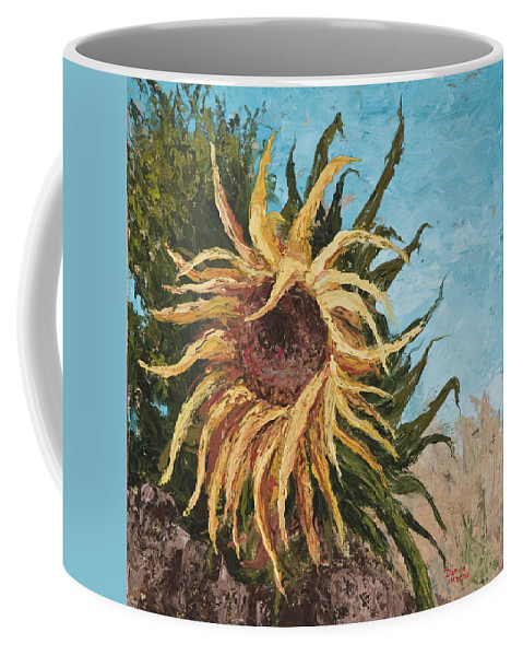 Sunflower Coffee Mug featuring the painting Sunflower by Darice Machel McGuire