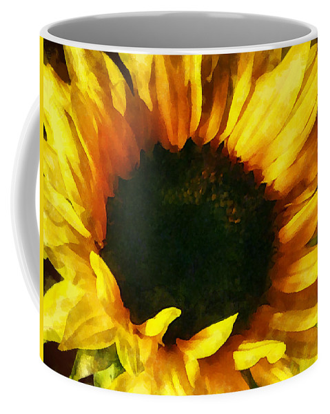 Sunflower Coffee Mug featuring the photograph Sunflower Shadow And Light by Susan Savad
