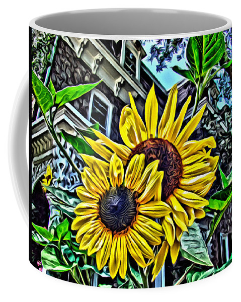 Sunflower Coffee Mug featuring the photograph Sunflower Under The Gables Too by Alice Gipson