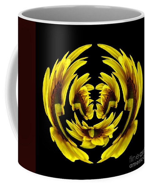 Polar Coordinates Coffee Mug featuring the photograph Sunflower With Warp And Polar Coordinates Effects by Rose Santuci-Sofranko
