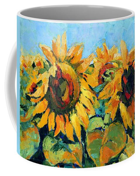 Sunflowers Coffee Mug featuring the painting Sunflowers 2 by Iliyan Bozhanov