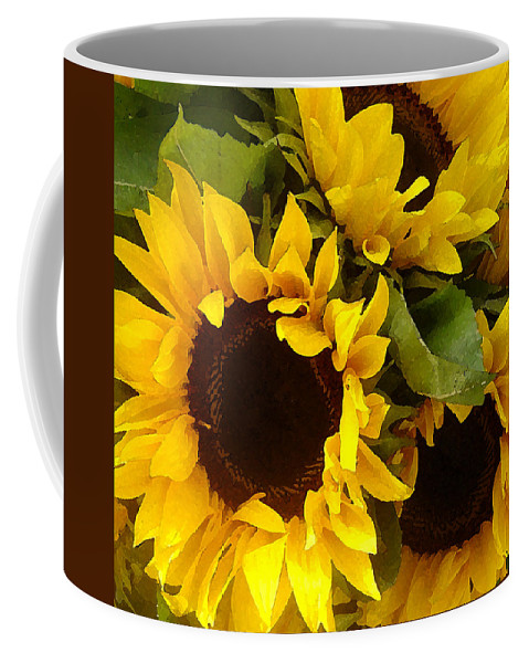 Sunflowers Coffee Mug featuring the painting Sunflowers by Amy Vangsgard