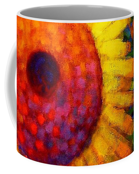 Flowers Coffee Mug featuring the painting Sunflowers by John Nolan
