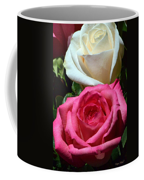 Roses Coffee Mug featuring the photograph Sunlit Roses by Marie Hicks