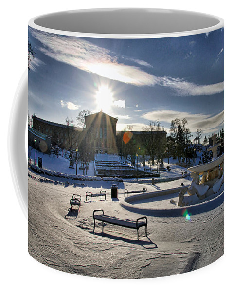 Art Museum Coffee Mug featuring the photograph Sunny In The Snow by Alice Gipson