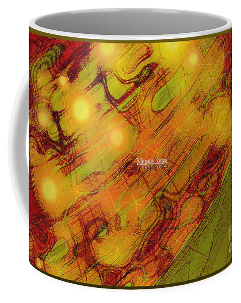 Design Coffee Mug featuring the mixed media Sunny by Mando Xocco