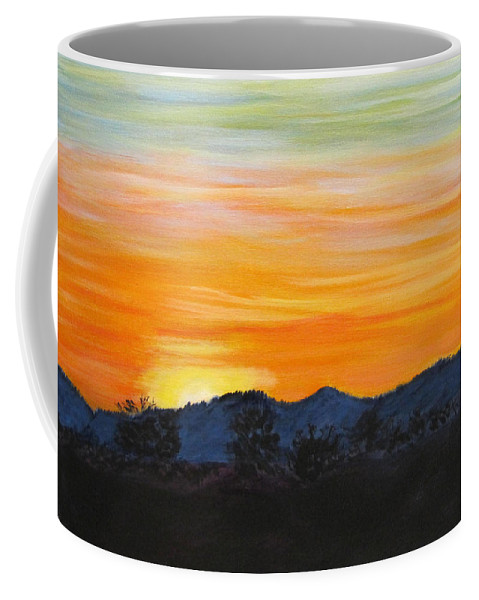 Acrylic Coffee Mug featuring the painting Sunrise - A New Day by Linda Feinberg