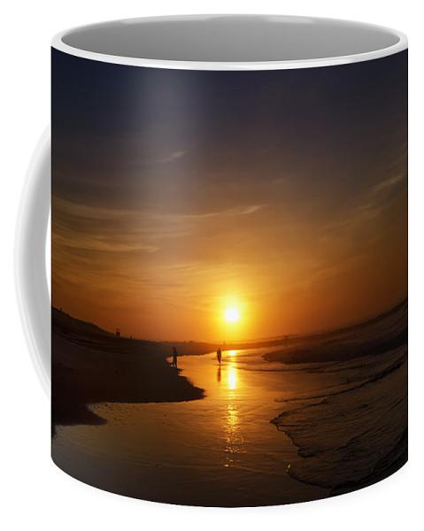 Sunrise Coffee Mug featuring the photograph Sunrise At Atlantic City by Bill Cannon