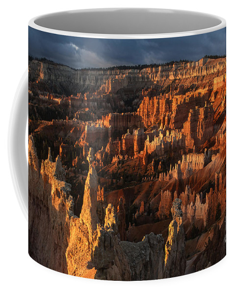 Bryce Canyon Coffee Mug featuring the photograph Sunrise At Bryce Canyon by Sandra Bronstein