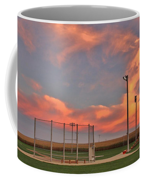 Baseball Coffee Mug featuring the photograph Sunrise At Field Of Dreams by Christopher Miles Carter