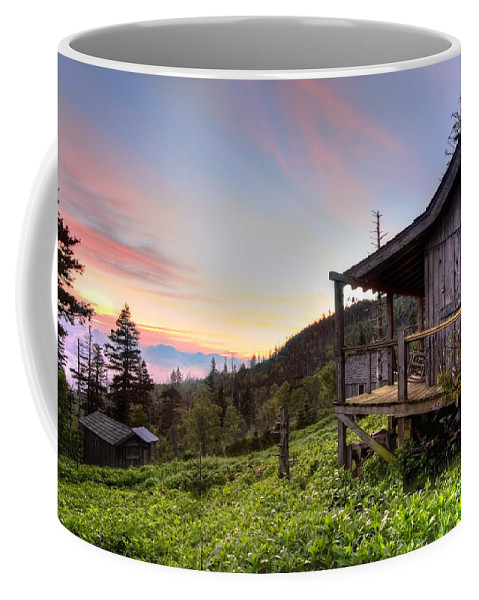 Appalachia Coffee Mug featuring the photograph Sunrise At Mt Leconte by Debra and Dave Vanderlaan