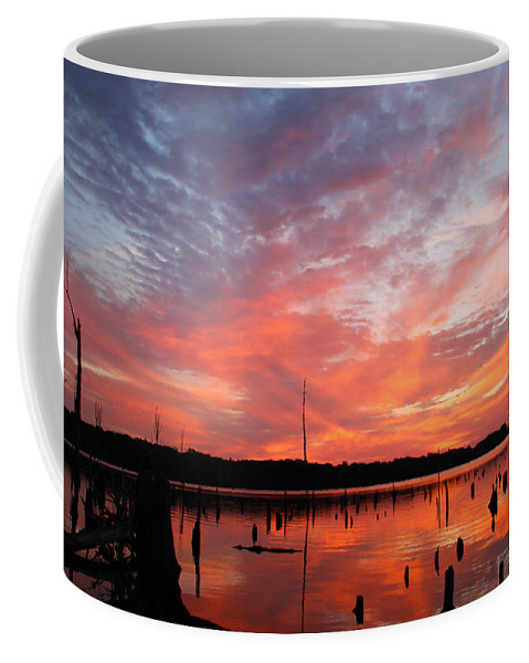 Waterscape Coffee Mug featuring the photograph Sunrise Glory by Roger Becker