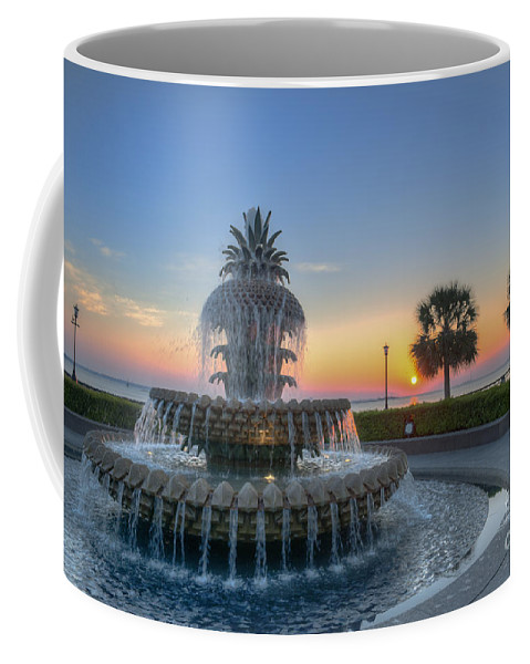 Pineapple Fountain Coffee Mug featuring the photograph Sunrise In The Lowcountry by Dale Powell