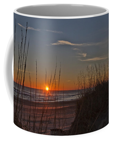 Coffee Mug featuring the photograph Sunrise Outer Banks Norht Carolina Img_3721 by Greg Kluempers