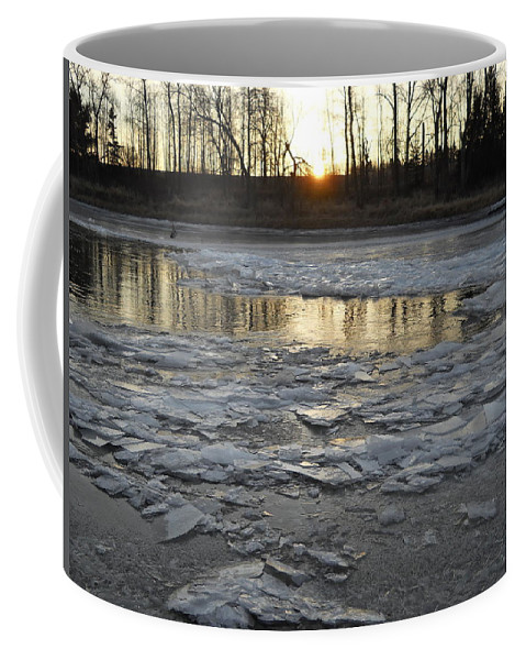 Mississippi River Coffee Mug featuring the photograph Sunrise Over Ice by Kent Lorentzen