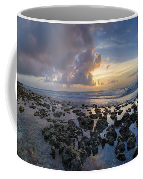 Clouds Coffee Mug featuring the photograph Sunrise Panorama by Debra and Dave Vanderlaan