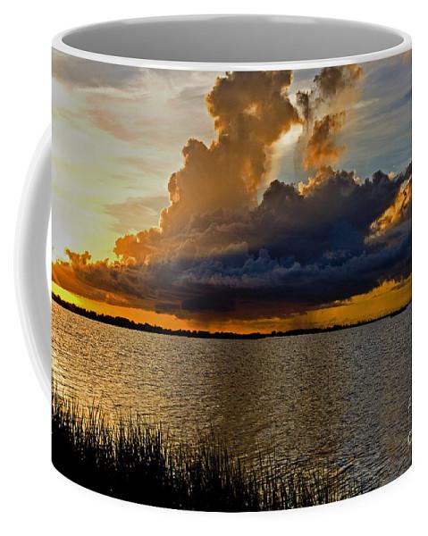 Sunrise Coffee Mug featuring the photograph Sunrise Rain by Scott Pellegrin