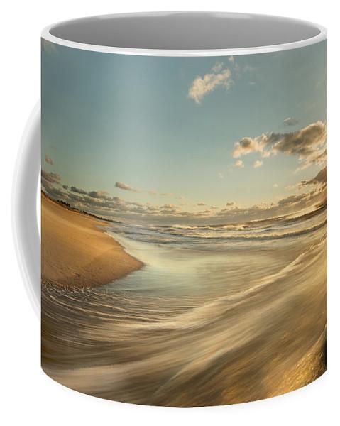 Sunrise Coffee Mug featuring the photograph Sunrise Surf by Jonathan Steele