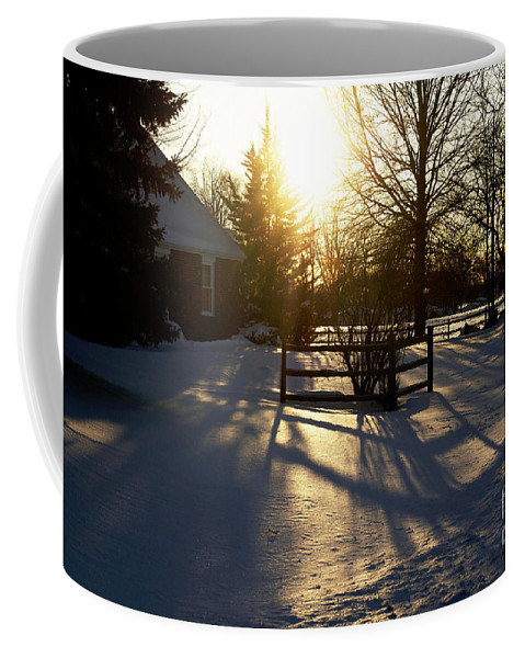 Sunset After The Storm Coffee Mug featuring the photograph Sunset After The Snow Storm by Luther Fine Art