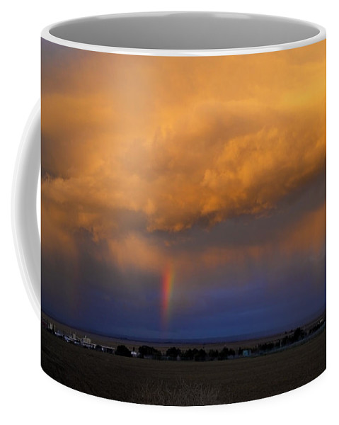 Sunset Coffee Mug featuring the photograph Sunset And Rainbows by Donna Blackhall