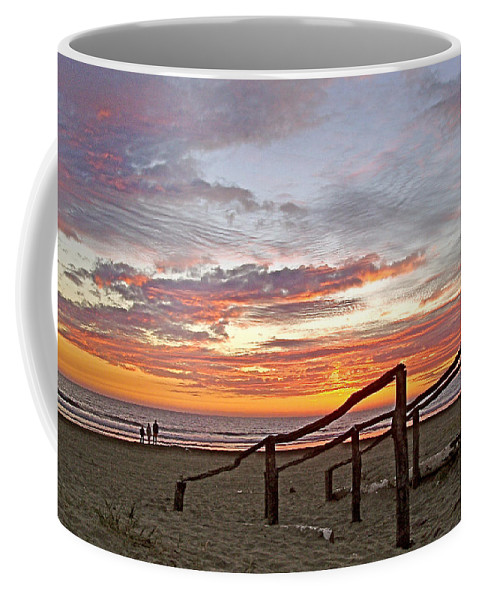 Sunset At Las Glorias Over Sea Of Cortez In Sinaloa Coffee Mug featuring the photograph Sunset At Las Glorias Over Sea Of Cortez-sinaloa by Ruth Hager